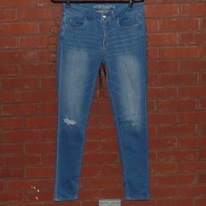 American Eagle Distressed Jegging Skinny Jeans 8
